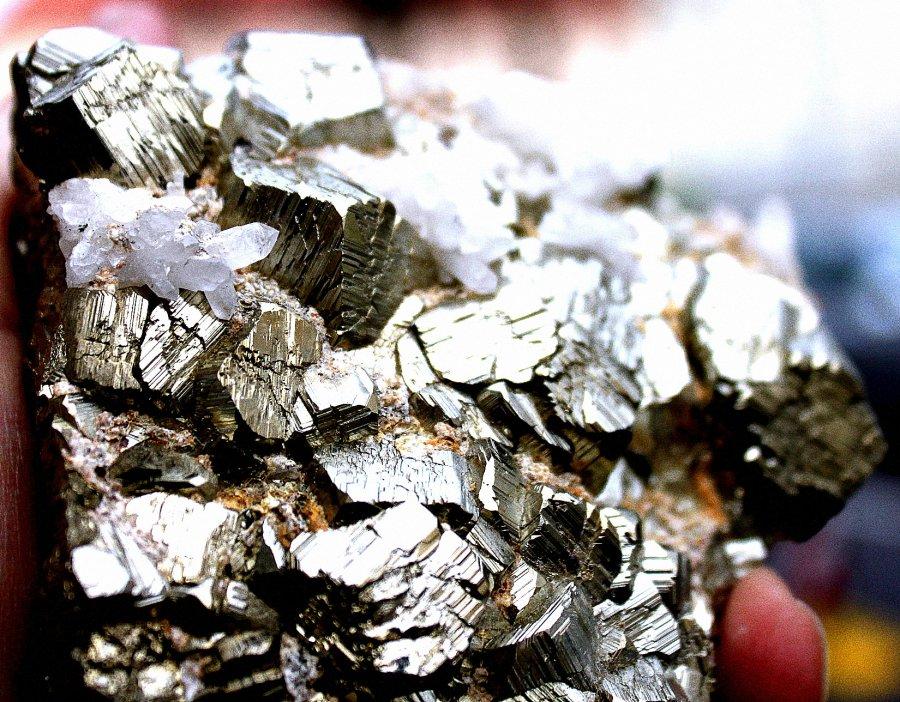 PYRIT  xx mit Bergkristall xx